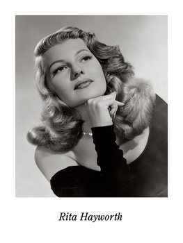 RITA HAYWORTH Reproduction d'art