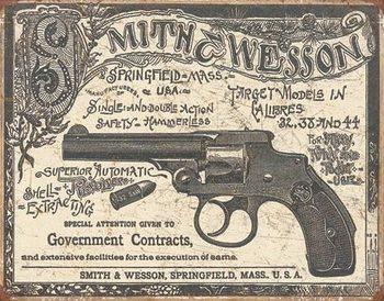 S&W - 1892 Gov. Contracts Plaque métal décorée