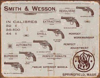 S&W - revolvers Plaque métal décorée