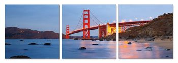 San Francisco - Golden Gate Tableau Multi-Toiles