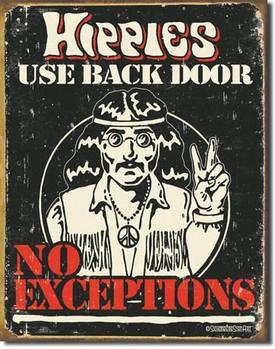 SCHONBERG - hippies Plaque métal décorée