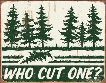 SCHONBERG - Who Cut One? Plaque métal décorée