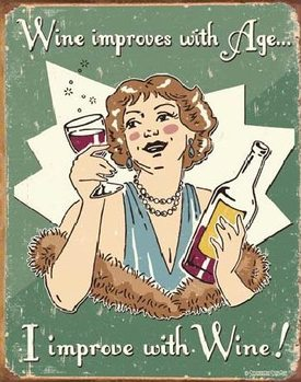 SCHONBERG - wine improved Plaque métal décorée