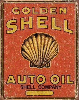 SHELL - Auto Oil Plaque métal décorée