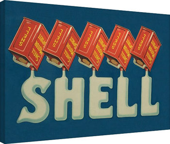 Shell - Five Cans 'Shell', 1920 Canvas Print