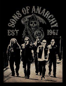 Sons of Anarchy - Reaper Crew Poster encadré en verre
