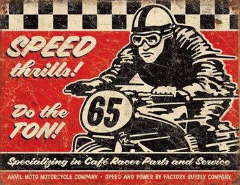 Speed Thrills Plaque métal décorée
