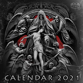Calendar 2021 Spiral - Gothic