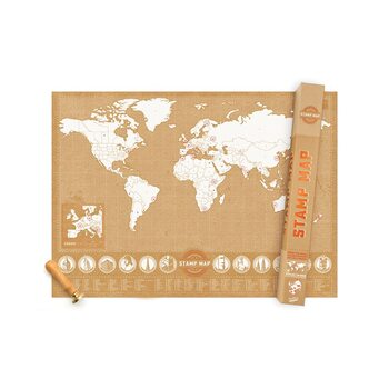 Scratch Map Stamp Map
