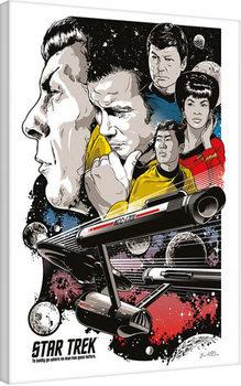 Star Trek: Boldly Go - 50th Anniversary Canvas Print