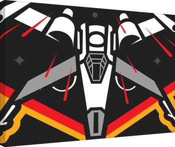Star Wars Episode VII: The Force Awakens - X-Wing Pencil Art Canvas Print