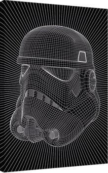 Star Wars - Stormtrooper Wire Canvas Print