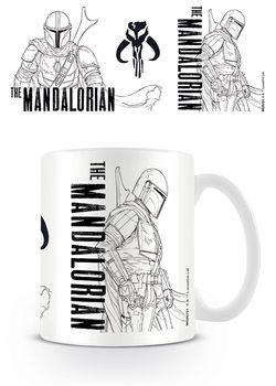 Caneca Star Wars: The Mandalorian - Line Art