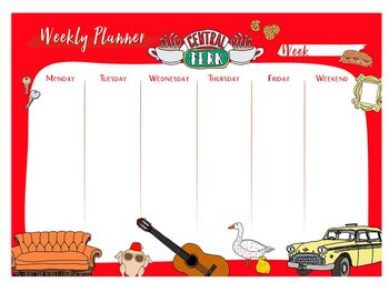 Weekly planner Friends Stationery