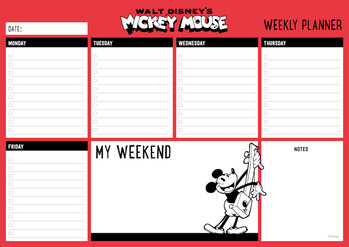 Weekly planner Mickey Mouse Stationery