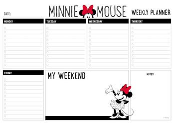 Weekly planner Minnie Mouse Stationery
