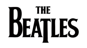 Sticker BEATLES - black logo