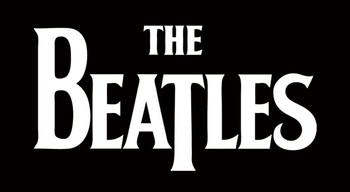 BEATLES - white logo Sticker