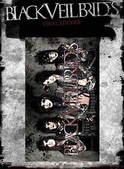 BLACK VEIL BRIDES – group landscape Sticker