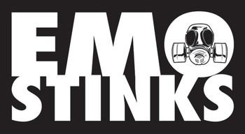 EMO STINKS Sticker