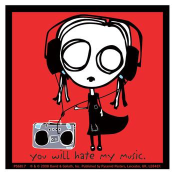 Sticker EVE.L - hate my music