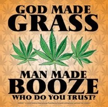 GOD MADE GRASS Sticker