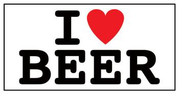 Sticker I LOVE BEER