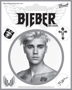 Sticker Justin Bieber - Bieber Black and White