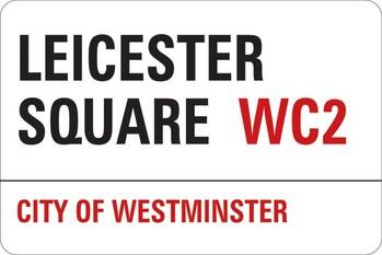 LONDON - leicester street Sticker