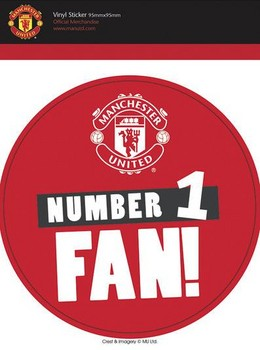 MAN UNITED – no 1 fans Sticker