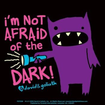 MONSTER MASH - im not afraid of dark Sticker