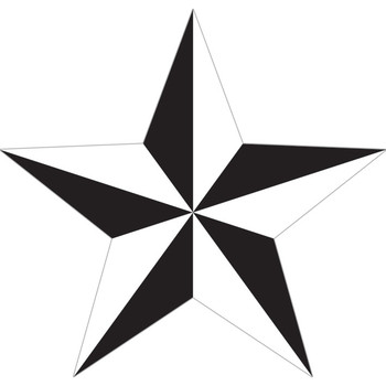Sticker NAUTICAL STAR - white