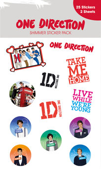 ONE DIRECTION - shimmer with glitter Sticker
