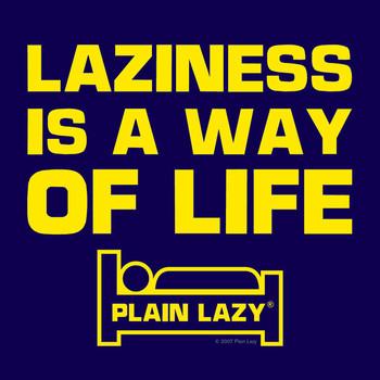 Sticker PLAIN LAZY - laziness