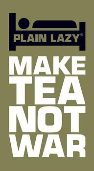 Sticker PLAIN LAZY - make tea not war