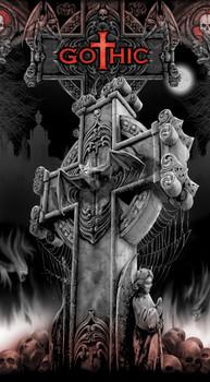Sticker SPIRAL - gothic cross