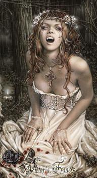 VICTORIA FRANCES - vampire girl Sticker
