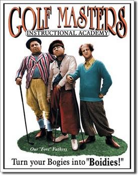 STOOGES - golf masters Plaque métal décorée