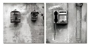 Street Art Photo Industrial (B&W) Tableau Multi-Toiles