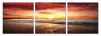 Sunset by the Sea Tableau Multi-Toiles