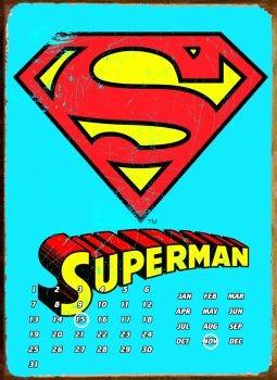 SUPERMAN LOGO Plaque métal décorée
