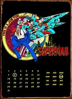 SUPERMAN TRANSFORM Plaque métal décorée