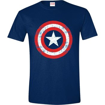 T-shirts Captain America - Cracked Shield