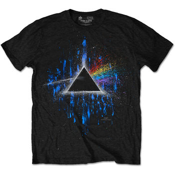 T-shirts Pink Floyd - DARK SIDE OF THE MOON BLUE SPLATTER