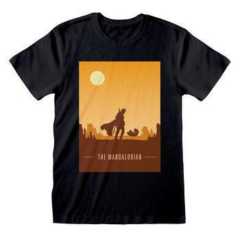 T-shirts Star Wars: The Mandalorian - Retro Poster