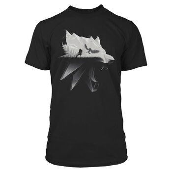 T-shirts The Witcher 3: Wild Hunt - Wolf Silhouette