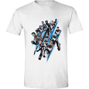 Avengers: Endgame - Diagonal Logo & Characters XL T-Shirt