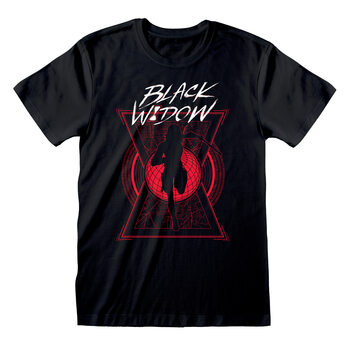 Black Widow - Text And Silhouette T-Shirt