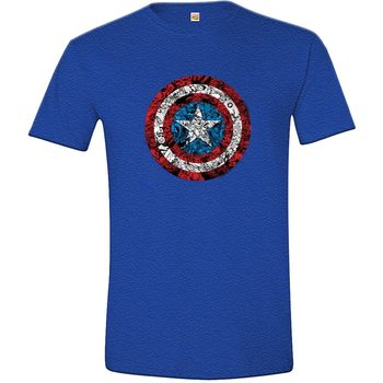 Captain America - Collage Shield T-Shirt