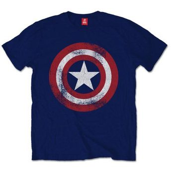 Captain America - Distress Shield XXL T-Shirt